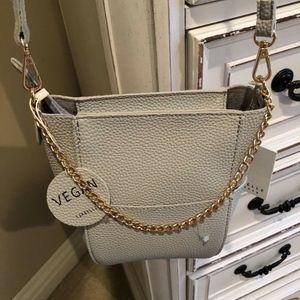 ISABELLE Cream Vegan Leather Dome Mini Handbag